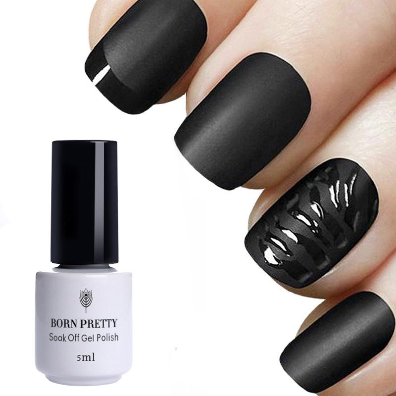 BORN PRETTY Gel Nail Polish Matte UV Top Coat No Wipe Soak Off Gel Polish  UV LED Transparent Color Nail Art Varnish