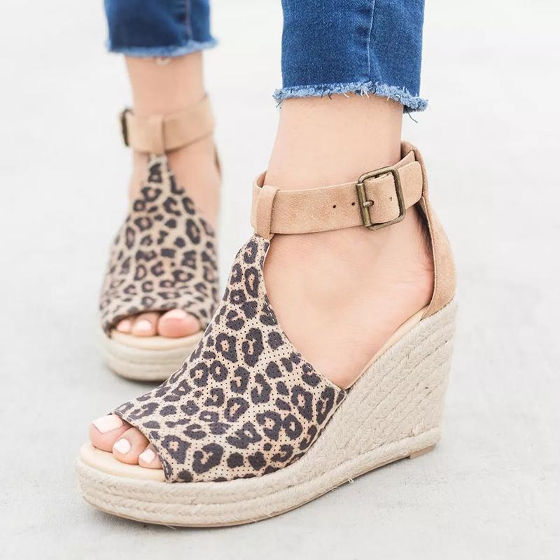 diseño atemporal 6d232 db617 Verano Mujer Sandalias Tacones de cuña Peep Toe Zapatos Tacones altos  Zapatos de playa Moda Cómodo Roma Plus Size 42 43 SNE-095