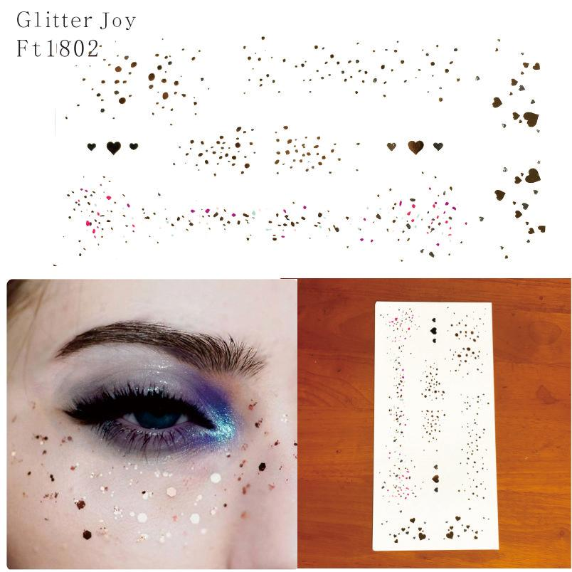 4923745ac FT1802 Gold And Silver Irregular Spot Glitter Freckles Makeup Tattoo  Sticker For Body Makeup Inpsired Henna Temporary Tattoo Jagua Tattoos From  Eugenel, ...