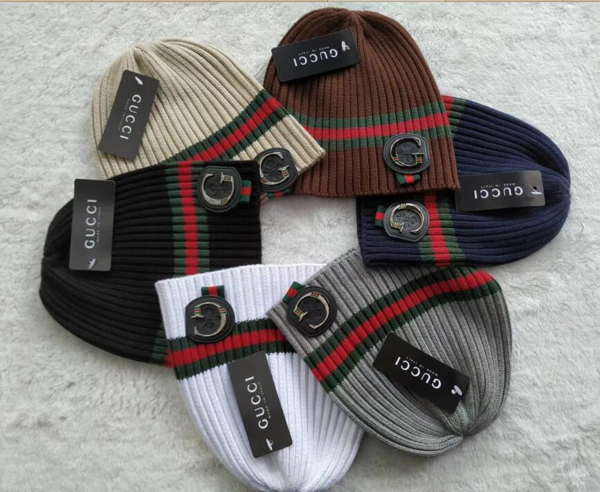 7b0bd797fad99b Couple ITLY Newest Fashion Winter Brand Red Green Stripe Men Beanie ...