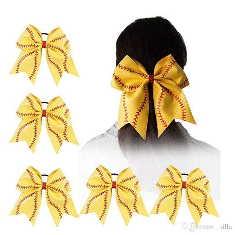 2019 Softball Hair Bows Softball Hair Accessories Perfect Softball Player  Gift From Milla a7356ae5980