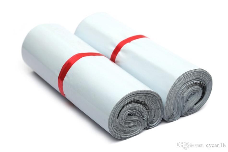 5x7in Mail Poly Mailer Sacchetti postali Express Organizer Organizador Bolsas Bianco Storage Adesivos Plastica De Plastico Embalagem Saco Busta
