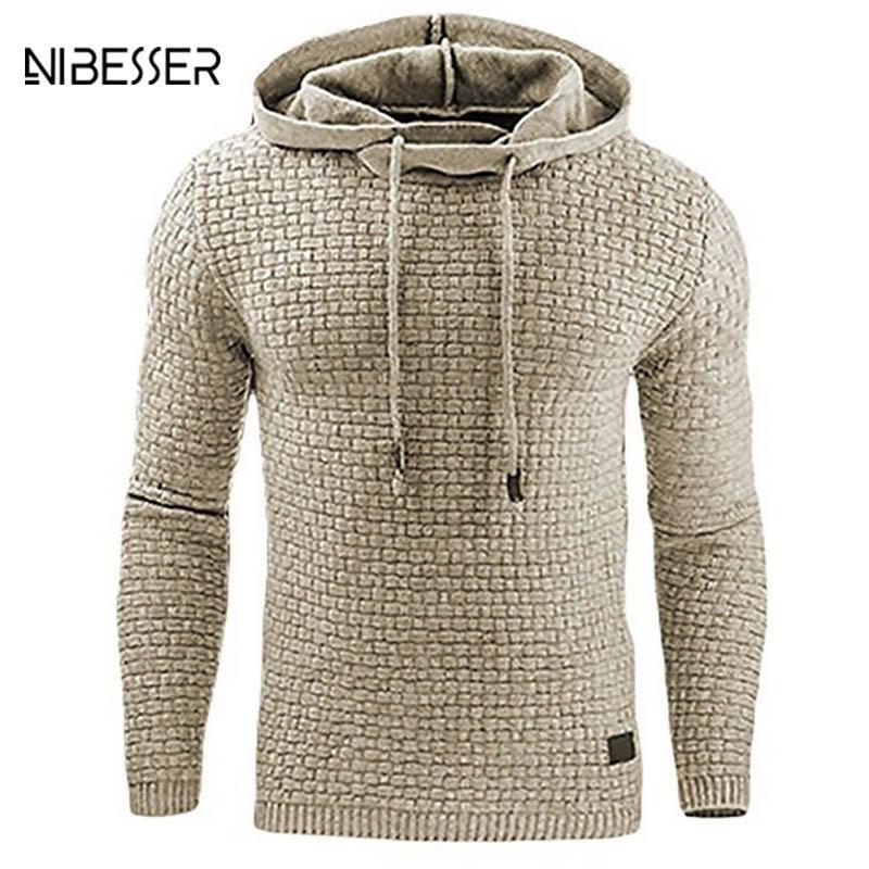 Compre Nibesser Marca De Moda Hoodies Do Velo Dos Homens Plus Size Pullover  Camisolas Com Chapéu Tops Multi Color Roupas Com Capuz Primavera Outono De  ... 5623de22f986