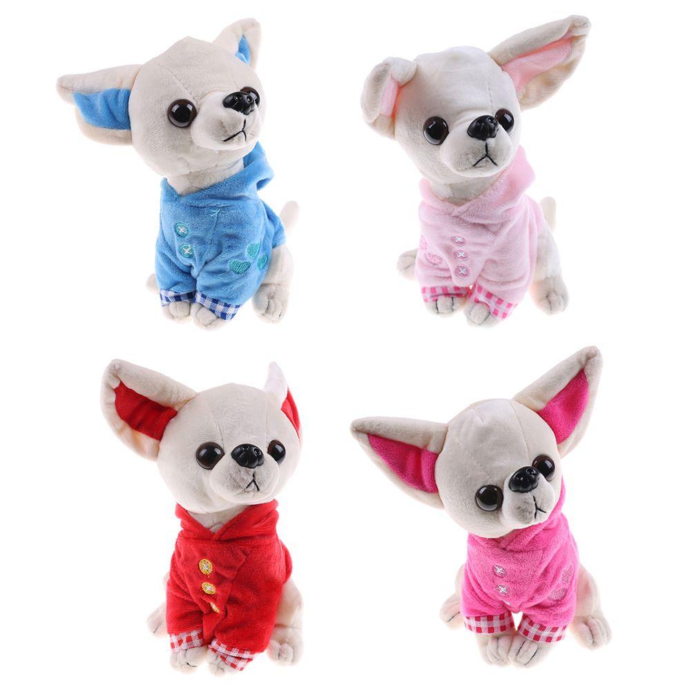 2019 17cm Cute Stuffed Dog Plush Toy Chihuahua Puppy Kids Toy Kawaii