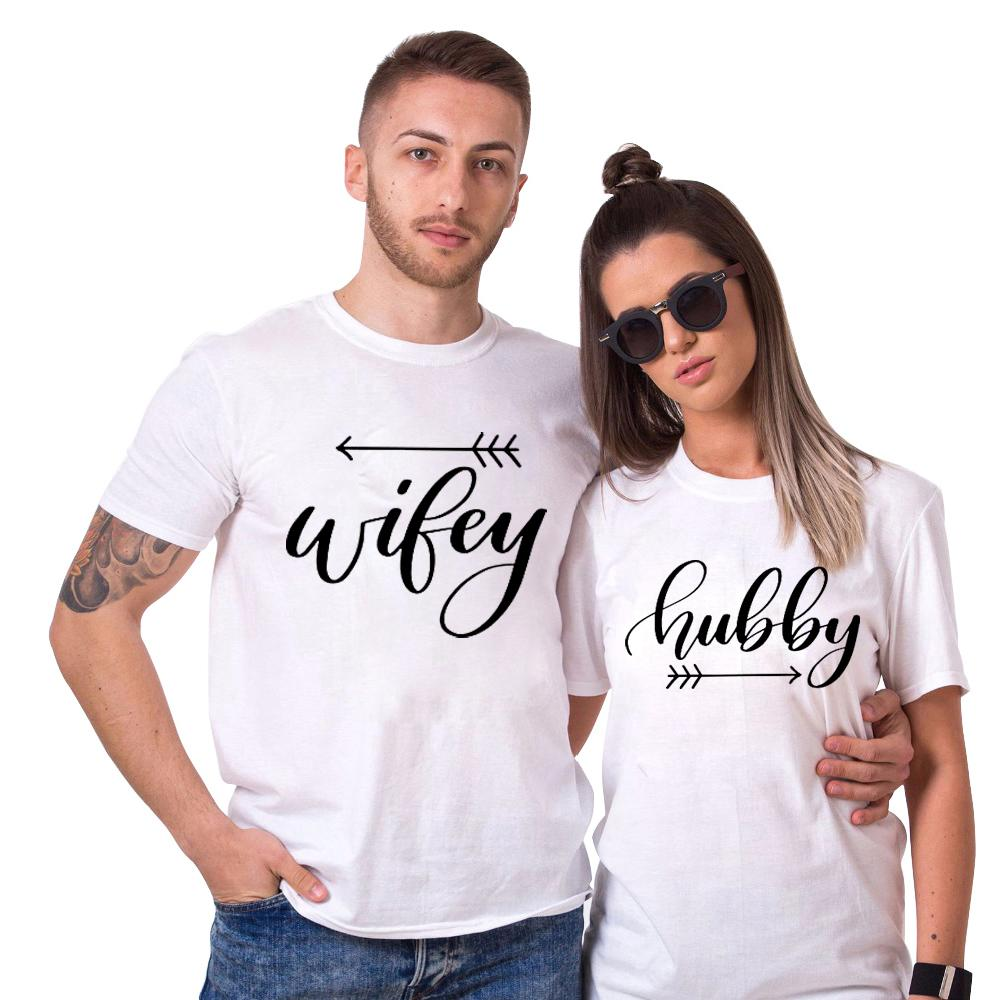 0eb94aa24e Hubby Wifey Shirt Funny Couples T Shirt Men Women His And Hers Tshirt  Printed Arrow Lovers T Shirt Coon Tops Streetwear Buy Shirt Ti Shirt From  Lucycloth, ...