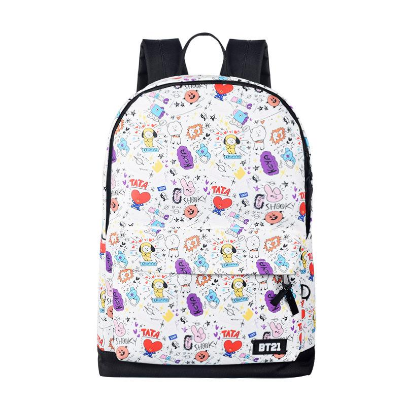 Got7 Mochila Bts Bt21 School Tassen Rucksack Frau College Bookbag Leather Bagpacks For Girls Shoulder Bag Women Casual Backpacks Men's Bags