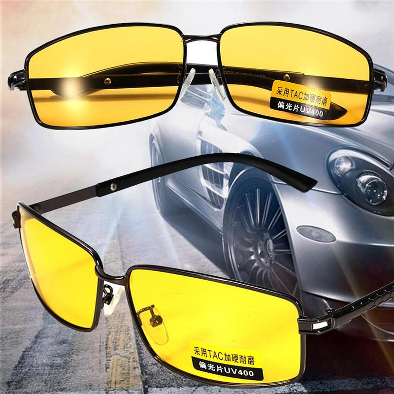 0b95e07868d Yellow Polarized Sunglasses Men Women Night Vision Goggles Driving Glasses  Driver Aviation Polaroid Sun Glasses UV400 Running Sunglasses Sunglasses  Case ...