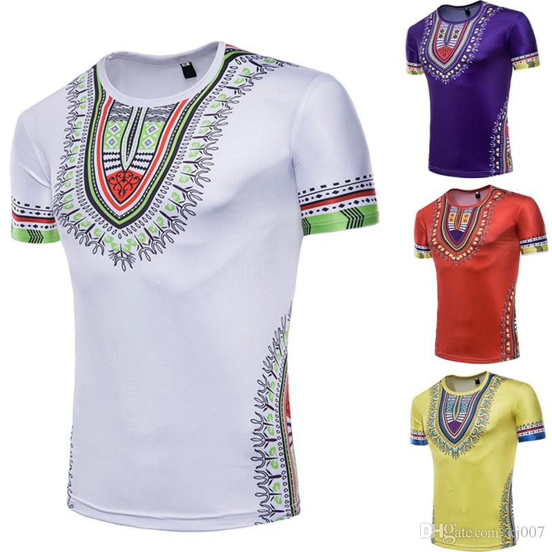 7e8fd4c9a New Fashion Short Sleeve Bandana Men'S Creative National Floral 3D Printing Man  Clothing Paisley T Shirt High Quality Top Shirts Funny T Shirt Companies ...