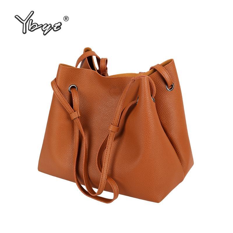 YBYT Brand 2018 New Women Casual Bucket Soft Handbag Fashion PU Leather  Vintage Satchel Ladies Shoulder Messenger Crossbody Bags Messenger  Crossbody Bag Bag ... 12e0a6d38a6bc