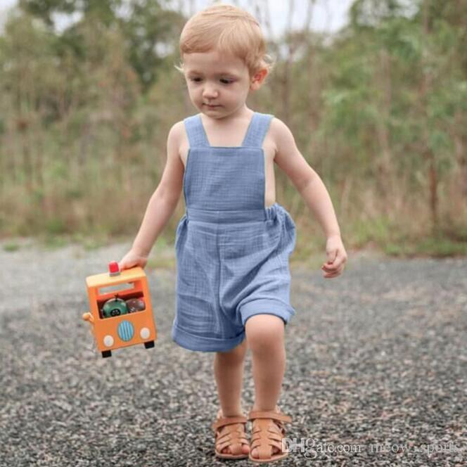 87204e7189fd 2018 New Summer Toddler Overalls Baby Suspender Pants Solid Baby Boy  Jumpsuit Light Blue Girls Cute Overalls Pants For Kids Toddler Suspenders  And Bow Tie ...