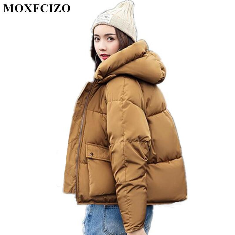 Symbol Of The Brand Nice Winter Coat Coat Winter Jacket Women New Jaqueta Feminina Women Korean Cultivating Down Long Big Collar Hooded Padded Parkas Women's Clothing