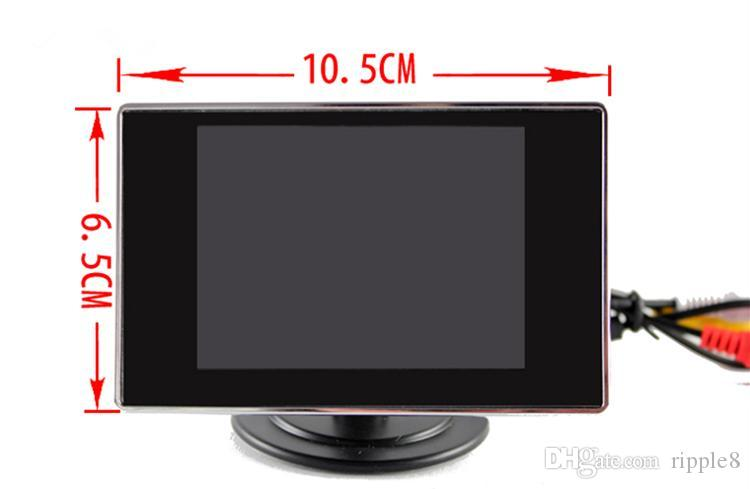 3,5-дюймовый автомобильный монитор PZ702 2 Способ видео вход вид сзади автомобиля TFT LCD автоматически отображать при движении задним ходом свободный пост