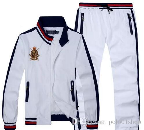 1188f45d 2018 Designer Tracksuit Men Luxury Sweat Suits Autumn Brand Mens Tracksuits  Jogger Suits Jacket + Pants Sets Sporting Suit Print men cotton