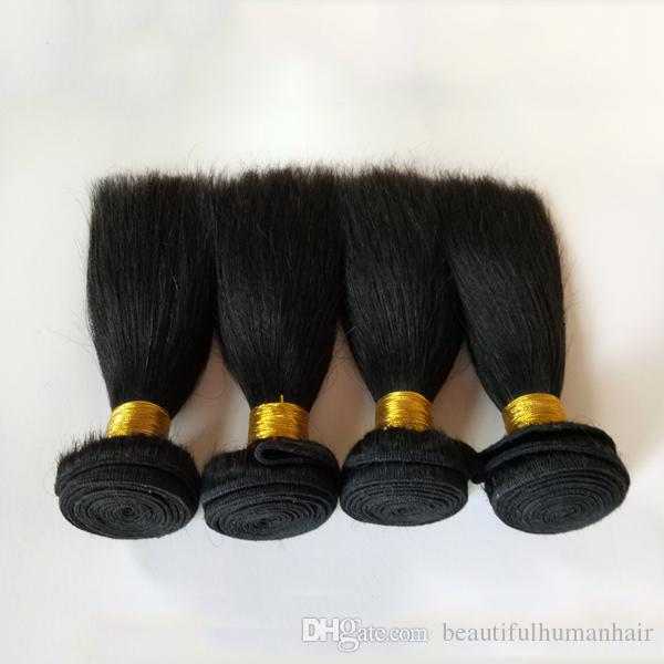 Cheveux vierges brésiliens vierges brésiliens à double trame pleine et épaisse en forme de cuticule, pleine longueur et épaisseur, 8-12 pouces, cheveux indiens remy