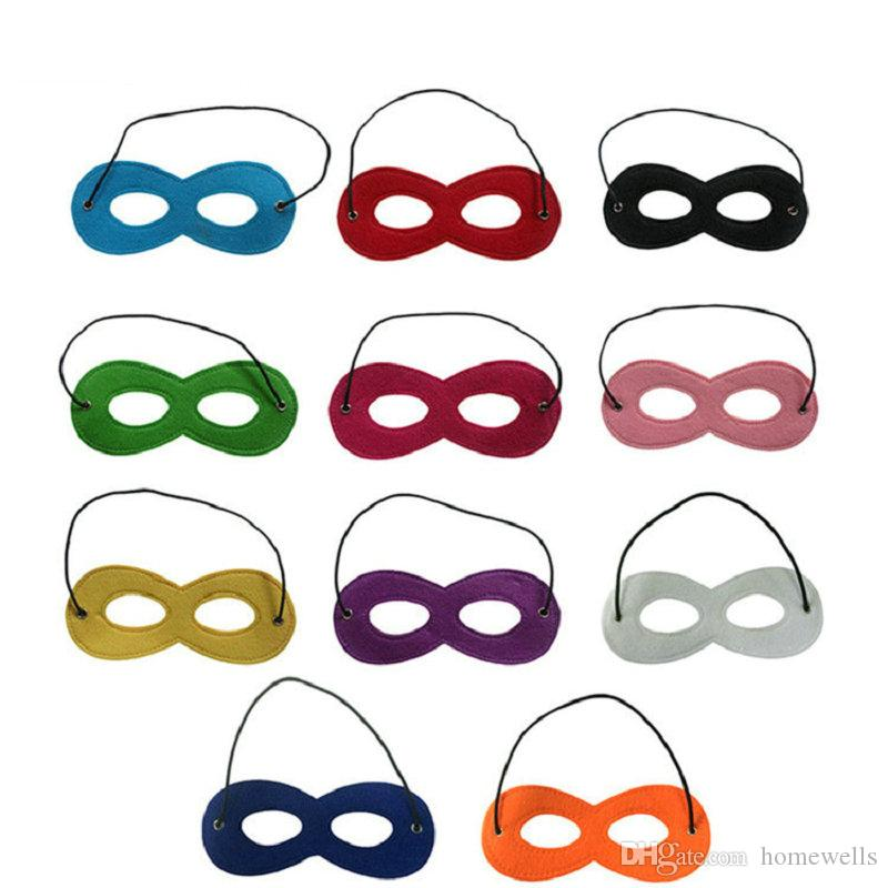 10 single colors halloween half face masks superhero kids cartoon