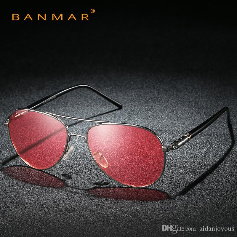 35ef05a80a Compre Piloto Gafas De Sol Polarizadas Hombres Día Visión Nocturna Gafas De  Conducción Gafas Mujer Amarillo Verde Lente Antirreflejos Gafas De Sol A  $30.03 ...