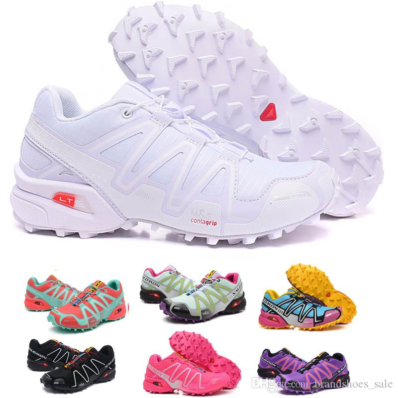 sports shoes 88d6e 84fd7 NEW Salomon women Shoes zapatos hombre Speed Cross 3 CS III Sport Sneakers  white Women Speed cross Solomon running Shoes 36-40
