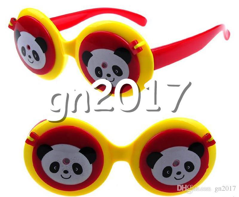 HOT Enfants Flip Couverture Lunettes De Soleil Garçons Filles Dessin Animé Mignon Panda Modèle Lunettes De Soleil Bébé Anti-UV Lunettes Lunettes Lunettes