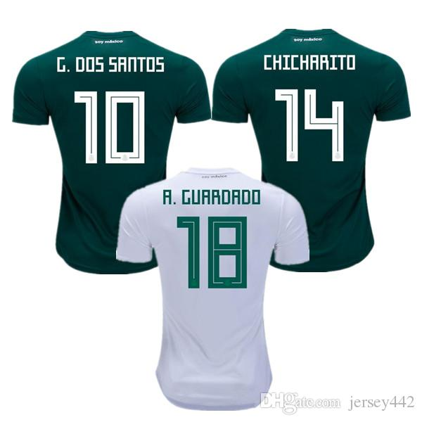 MEXICO SOCCER JERSEYS 2018 World Cup CHICHARITO LOZANO DOS SANTOS LAYUN  Mexico Football Shirts HERRERA GUARDADO CORONA Camisetas De Futbol LOZANO  DOS SANTOS ... 545ffc73b