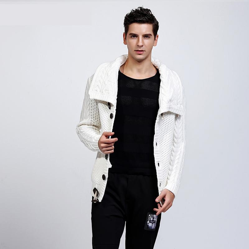 BETTONAL 100% Acrylique Automne Hiver Chandail Chaud De Luxe Cardigan Mâle Hommes Pull À Col Roulé De Mode Casual Tricoté MS185