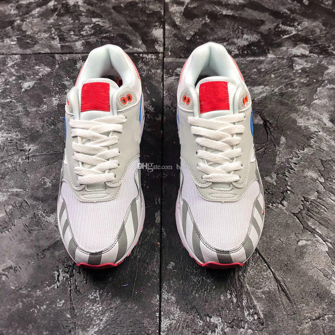eca462dd2463d Acheter Gros Hommes Femmes Piet X Maxes 1 Parra Blanc Multi Gris Bleu Rose  Chaussures De Course Sport Rubber Outsole Baskets Designer Athletic  Sneakers De ...