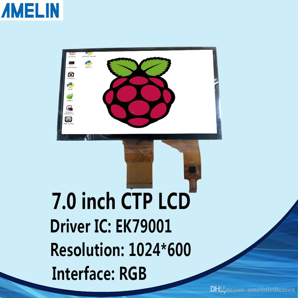 7 inch 1024*600 50pin RGB IPS TFT lcd module display with capacitive touch panel and EK79001 IC screen
