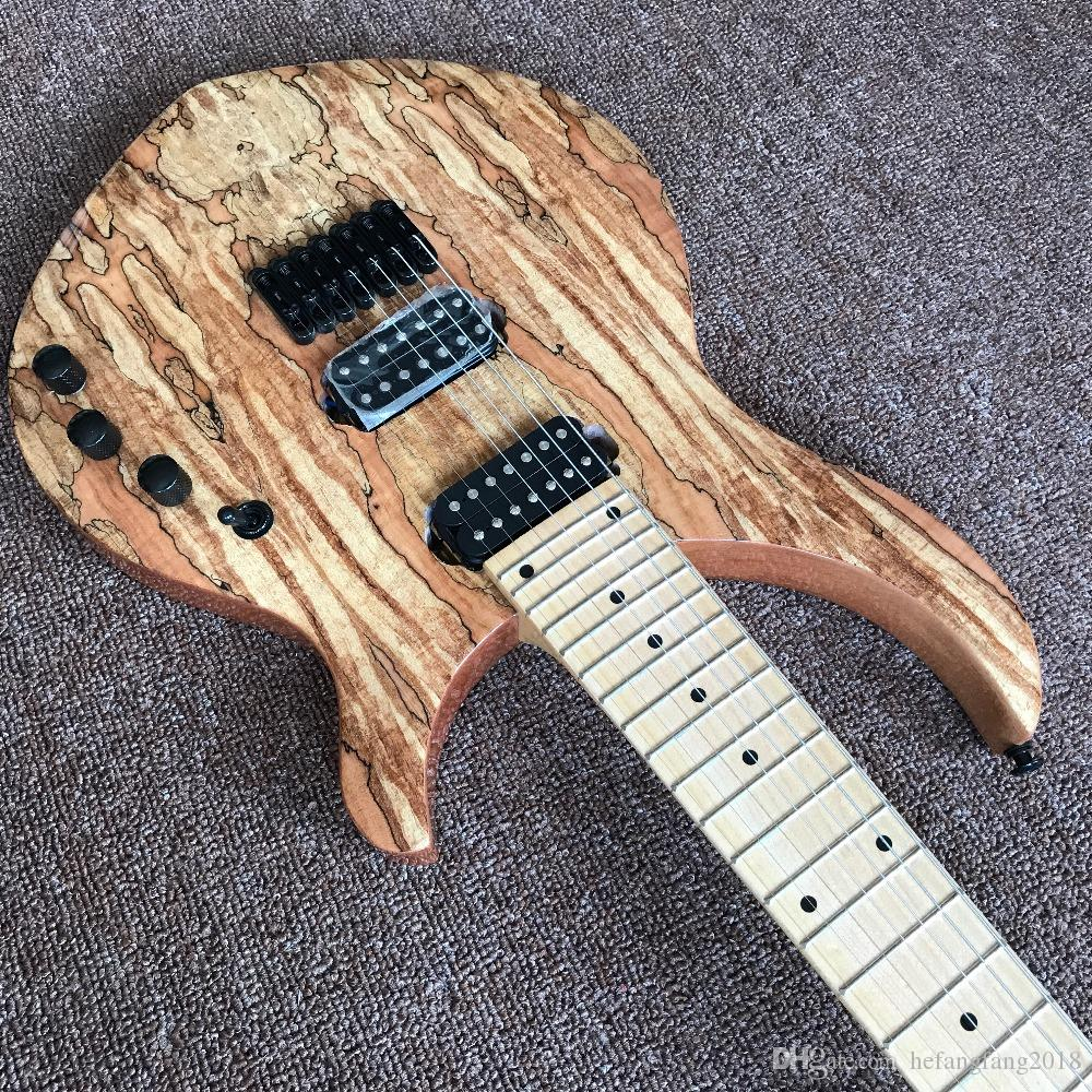 74387339784 New Arrival Highquality Custom Strings Electric Guitar, Natural Color,  Spalted Maple Top,Real Photo Showing Guitarra Online with $477.09/Piece on  ...
