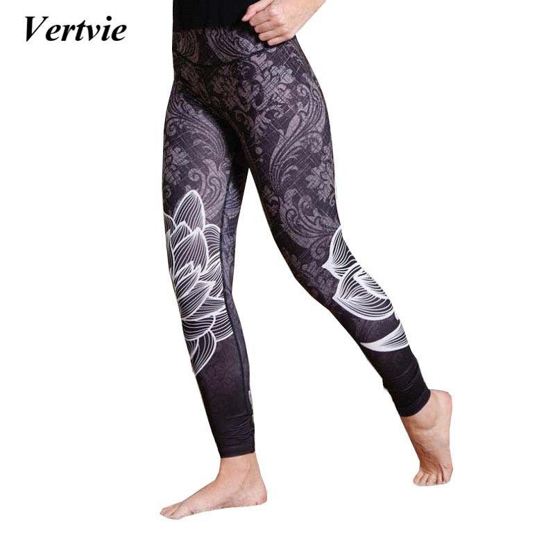 495f1bd85a6c2d Vertvie 2017 Women Sport Leggings Fitness Yoga Pants Compression ...