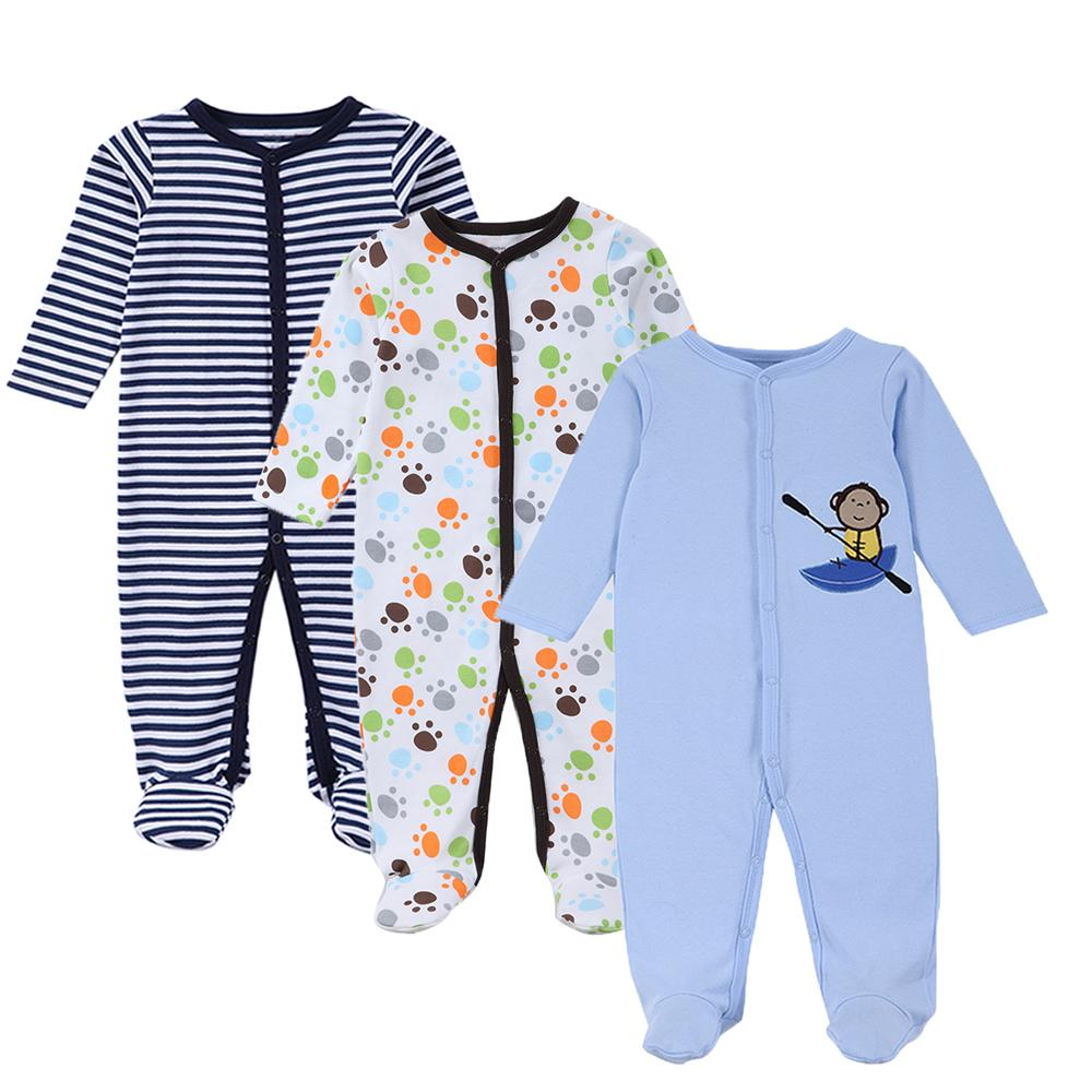 4b73e8f9ce4a 2019 2018 New 3 Pack Snap Up Cotton Sleep & Play Jumpsuit Baby Clothes  Cartoon Unisex Newborn Girl Boy Onesie Coverall 0 12 Months From Sophine13,  ...