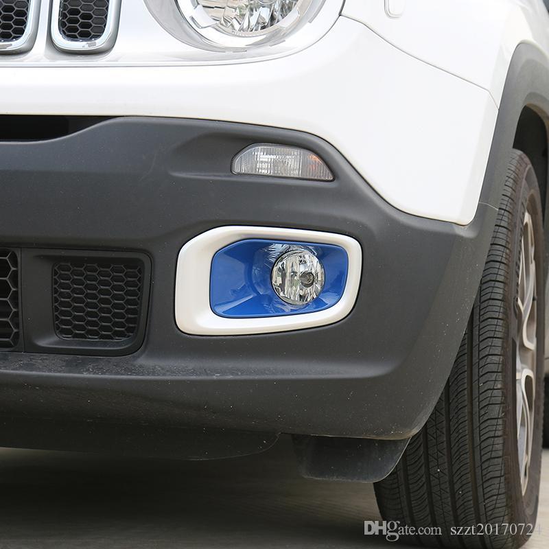 Außen Auto Nebelscheinwerfer Rahmenabdeckung Dekoration für Jeep Renegade 2016 2017 2018 Automobiläußerzusätze Zubehör