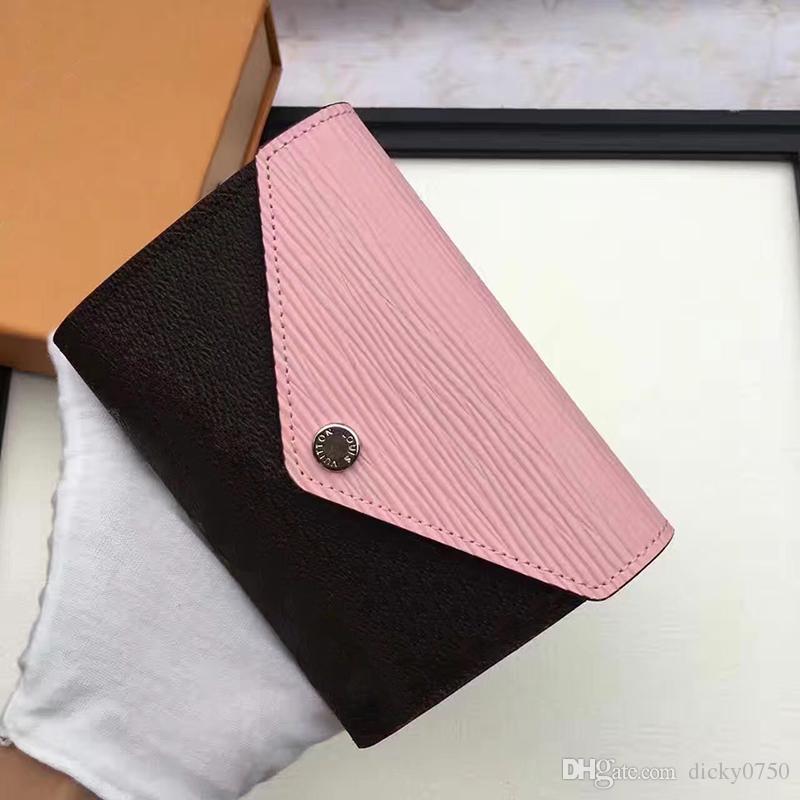 2018 Toptan Tasarımcı Cüzdan deri renkli sikke çanta kısa cüzdan Polikromatik çanta bayan Kart sahibinin klasik mini fermuarlı cebi