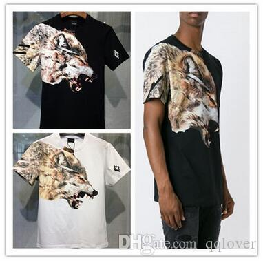 e6d7625aefa2 Summer Casual Cotton Tshirt Men S And Women S Short Sleeved Wings Wolf  Print T Shirt Tide Brand Animal 3D Print T Shirt Awesome Tee Shirt Funny T  Shirts ...