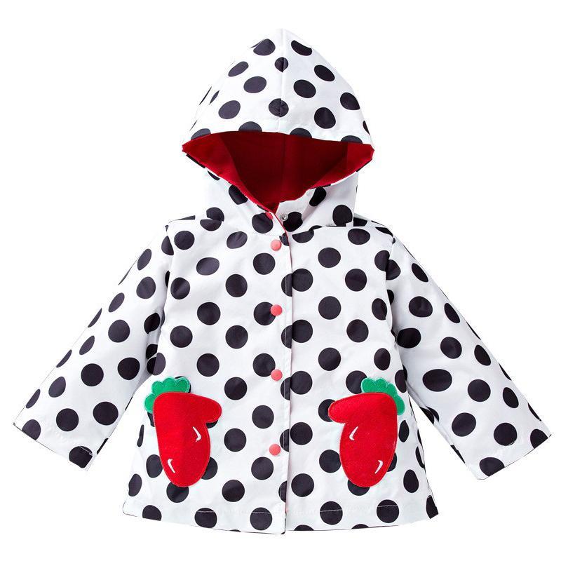 2017 Moda Impermeable Niños Chaqueta de Dibujos Animados Sudaderas Con Capucha Ropa de Niños Niñas Bebés Impermeable Abrigos Otoño Niñas Chaqueta