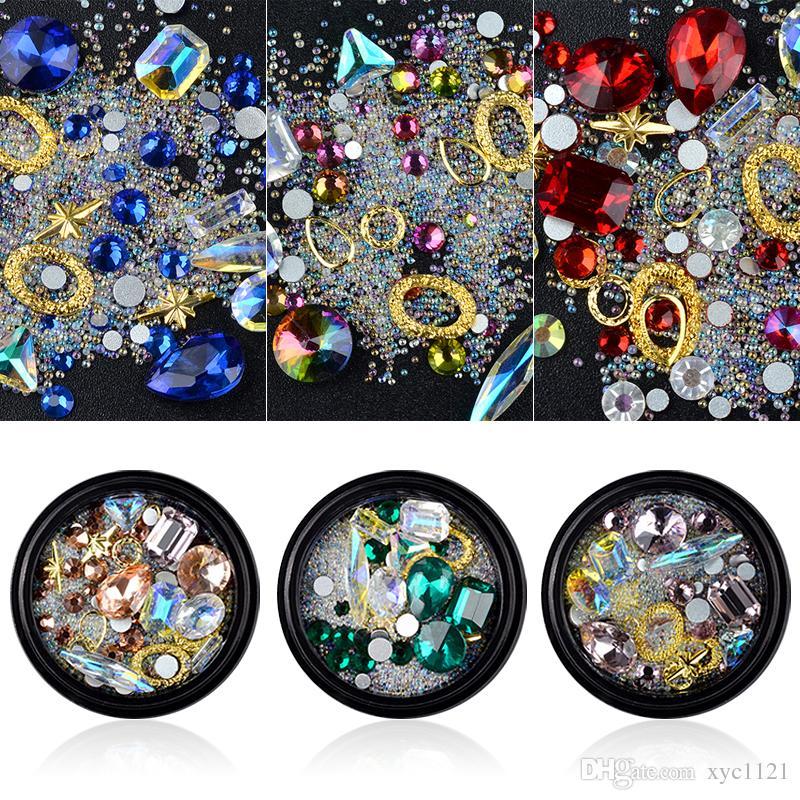 Top Quality Mixed Resin Crystal Rhinestones Gems Nail Art Decoration