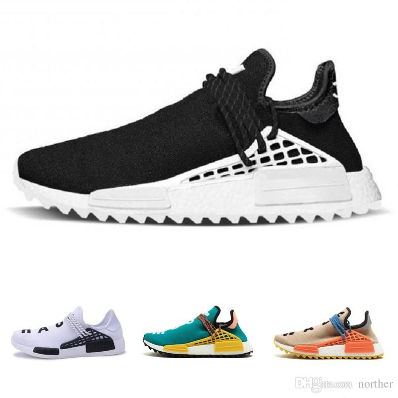 4f9d01daa 2018 Human Race Pharrell Williams Hu Trail NERD Men Womens Running Shoes  XR1 Sports Shoes Eur 36 45 Lightweight Running Shoes Trail Running Shoes  Women From ...