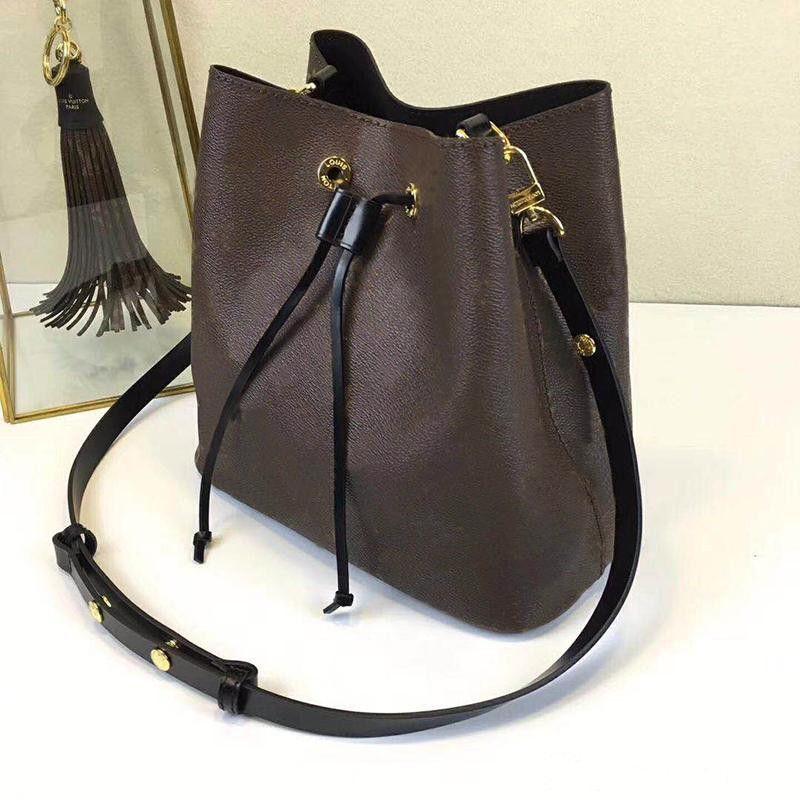 L129 сумки на ремне Noé кожа ведро Сумка женщины известные бренды дизайнер сумки высокое качество цветок печати crossbody сумка кошелек M4402