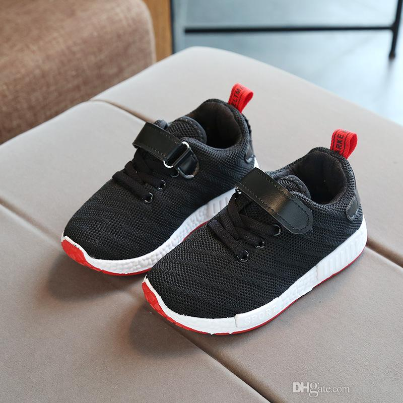 Spring And Autumn New Sepatu Anak 2018 Boy Wild Casual Light Shoes Kids Canvas Shoes Children Sports Boys Loafers Mesh Size26 37