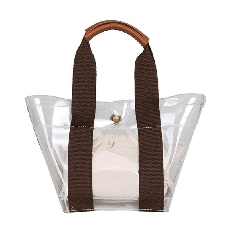 0ed3e48f4346 Simple Clear PVC Shoulder Bags Summer Women Ladies Girls Casual Messenger  Handbags Beach Totes Bag Leather Purses Cheap Designer Handbags From  Koolless