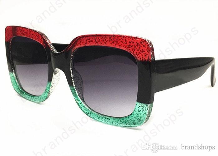 kadınlar gölge Moda UV dava ile güneş gözlüğü için yüksek kaliteli lüks KADIN büyük çerçeve marka tasarımcı bağbozumu Gözlük Güneş gözlüğü Retro