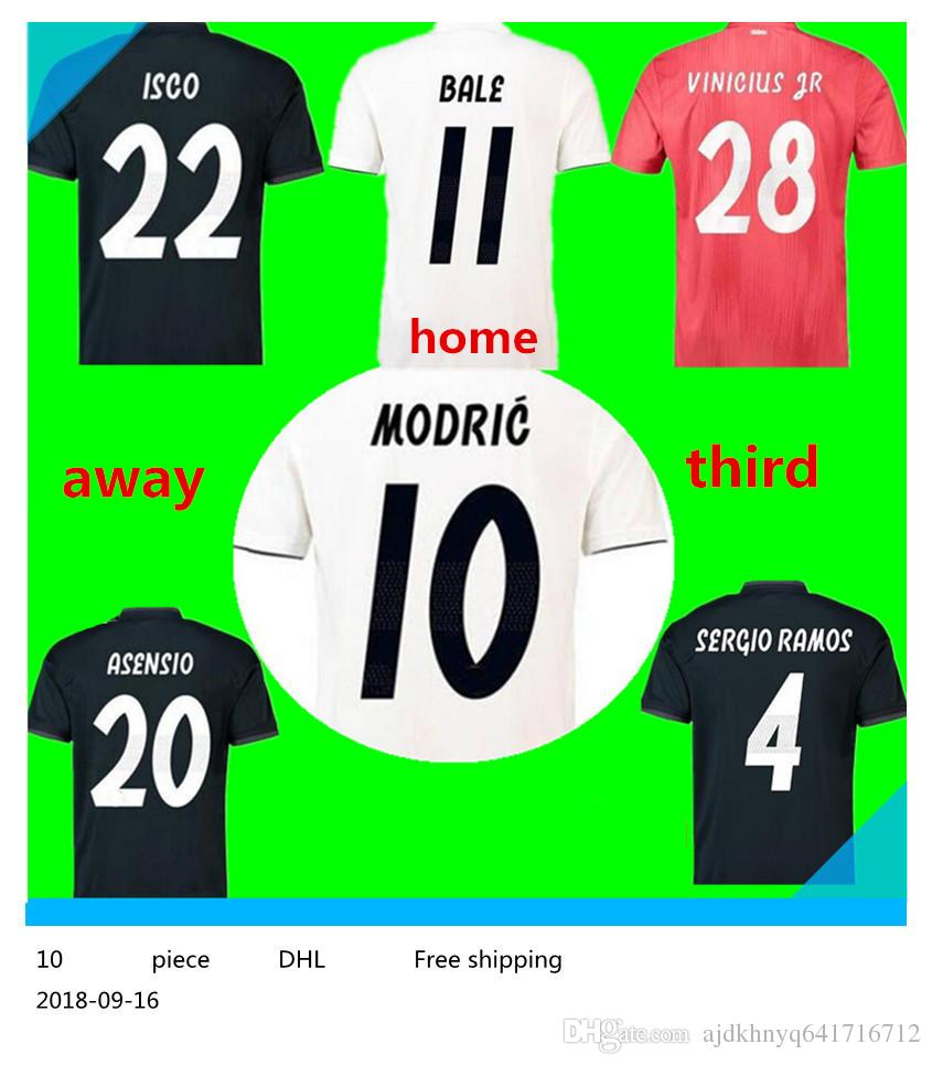 ... order 2018 real madrid third soccer jersey 18 19 real madrid 3rd red soccer  shirt 2019 00d98327c