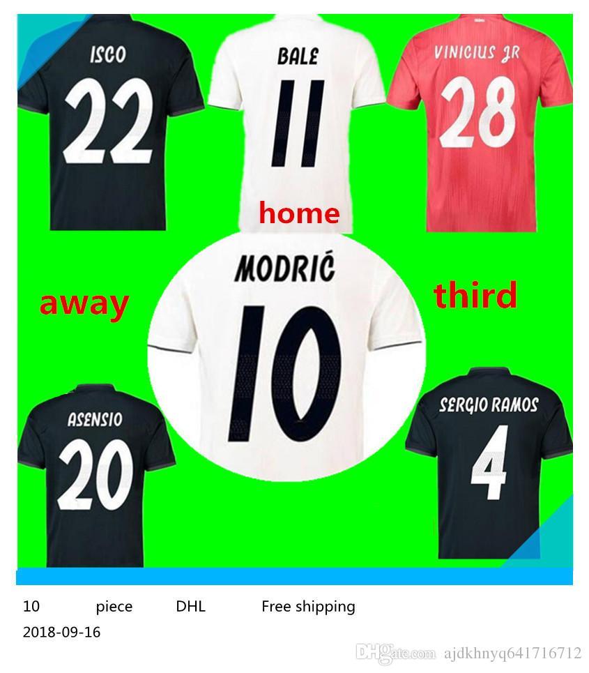 ... order 2018 real madrid third soccer jersey 18 19 real madrid 3rd red  soccer shirt 2019 b7b86f6f1