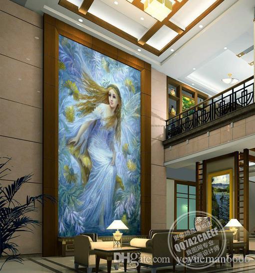 Quadri decorativi Personalizza la figura astratta 3D Carta da parati 3D soggiorno Sfondo murale Carta da parati 3D Divano TV
