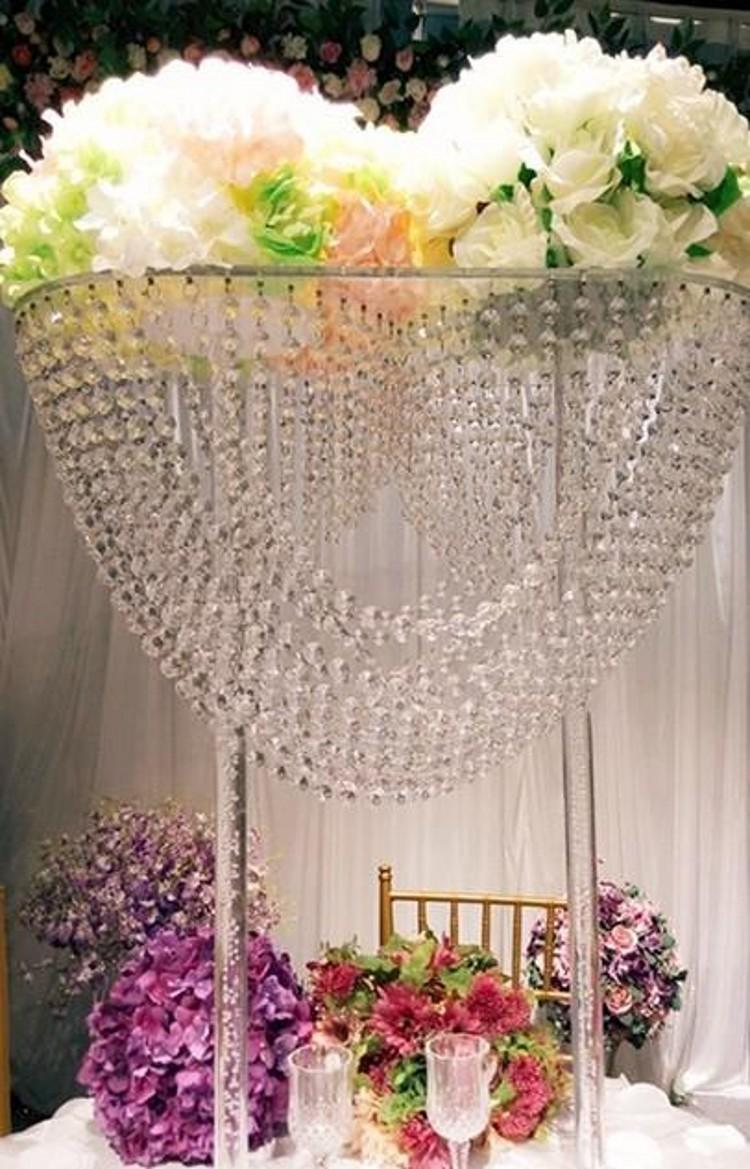 Grosshandel 80cm Hohe Kristall Hochzeit Strasse Fuhren Requisiten