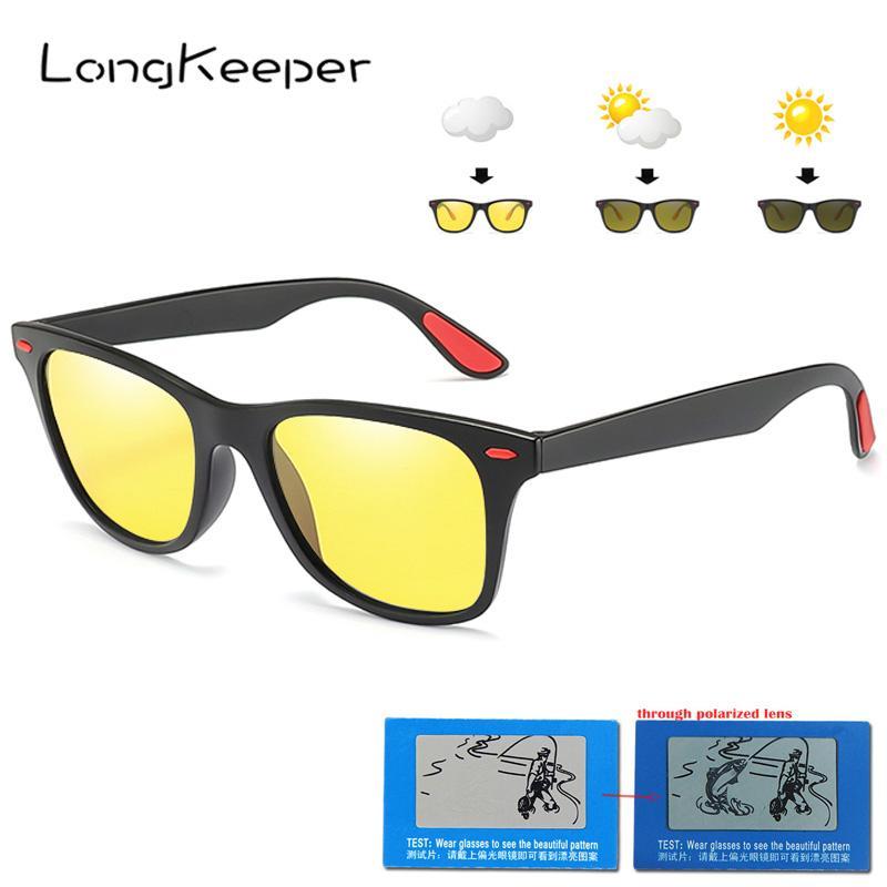 Compre 2019 Marca Photochromic Óculos De Sol Dos Homens Óculos De Visão  Noturna Polarizada Óculos De Sol Para As Mulheres Moda Quadrado Preto Gafas  De Sol ... 8742cb994f