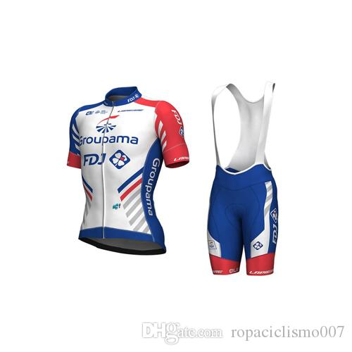 672dbba34 Ciclismo Clothing 2018 Groupama Fdjj PRO TEAM Short Sleeve Cycling ...