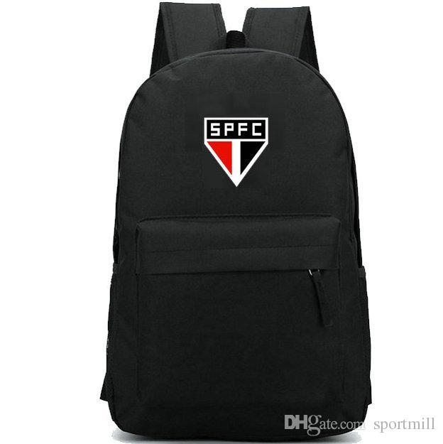 499dac71767 Sao Paulo Futebol Clube Backpack Spfc Club Badge School Bag Football ...