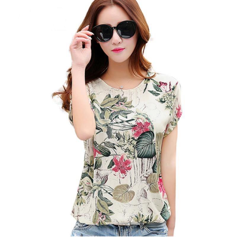 f2de41b09 Estampado floral Blusas de las mujeres Camisas de las señoras Tops de  verano Casual Más tamaño Blusa camisa Moda coreana 2019 Nueva Blusas Mujer