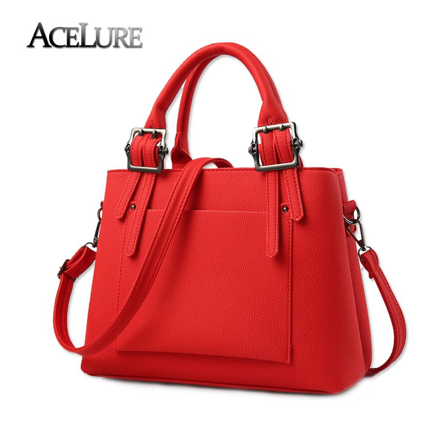 ACELURE Stylish Women Handbag All Match Women Leather Tote Bag Ladies Sweet  Solid Shoulder Bag Brand Tidal Female Crossbody Travel Bags For Women  Satchel ... 9fc32228d3459