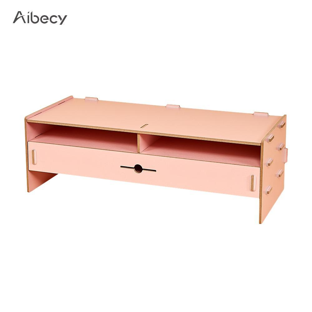 2018 Desk Organizer Wood Desktop With Stationery Keyboard Storage Slots Drawer Office School Supplies From Baolv 212 65 Dhgate Com