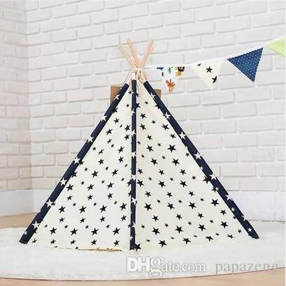 2019 Wholesales Pet Teepee Tent Dog Cat Toy House Portable Washable Pet Bed Star Pattern Dog Supplies Pet Bags Pet House Online with $91.42/Piece on ...  sc 1 st  DHgate.com : dog teepee tent - afamca.org